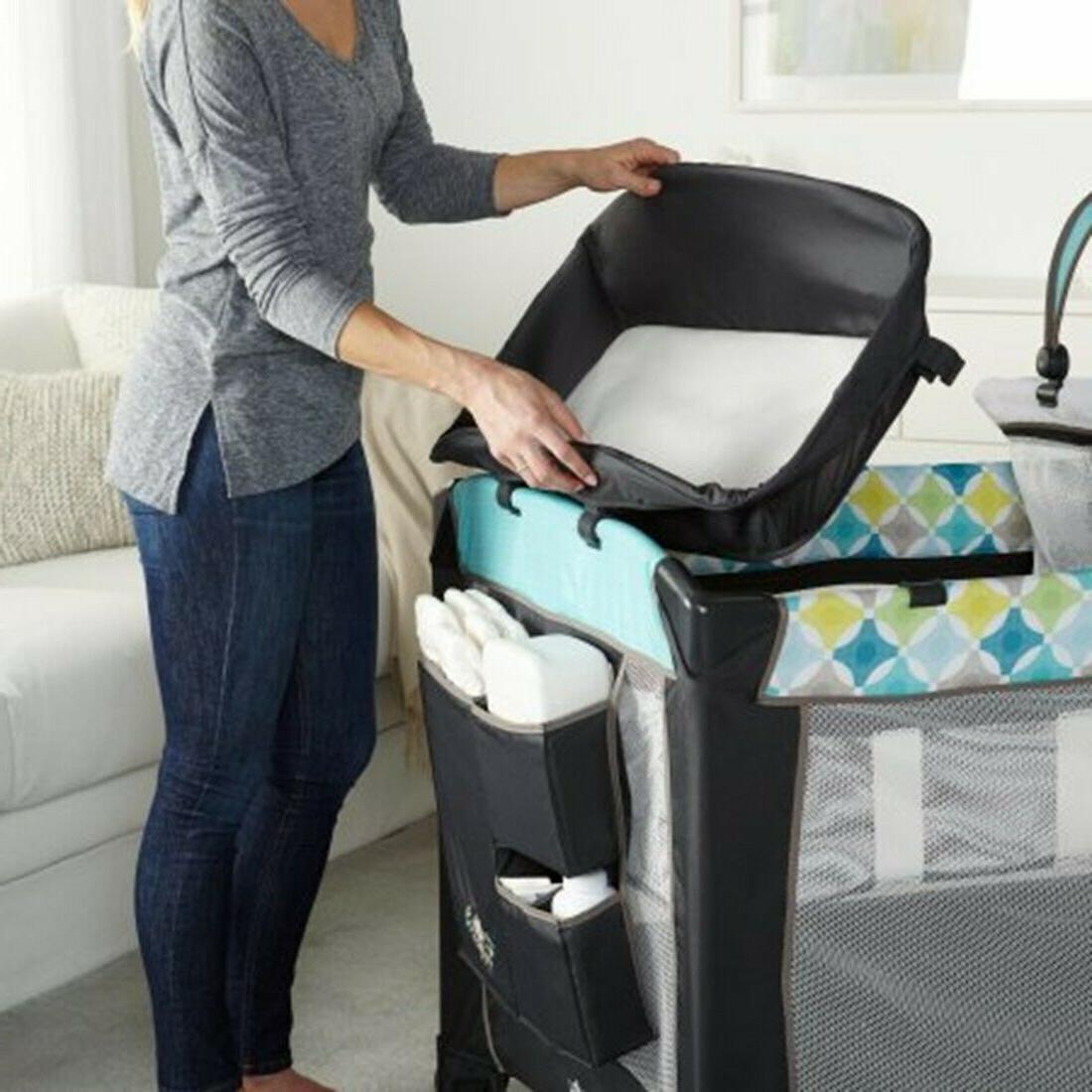 Baby Playard Crib Bassinet Infant Automatic Combo set Ingenuity