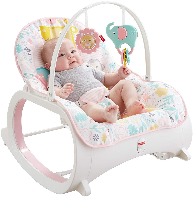 BABY INFANT Toddler Rocking Swing Seat PINK Nap