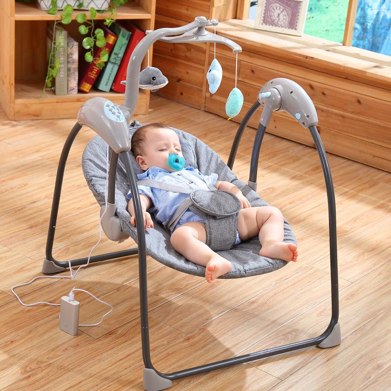 Baby Swing Electric Baby <font><b>Rocking</b></font> Cradle Remote Baby