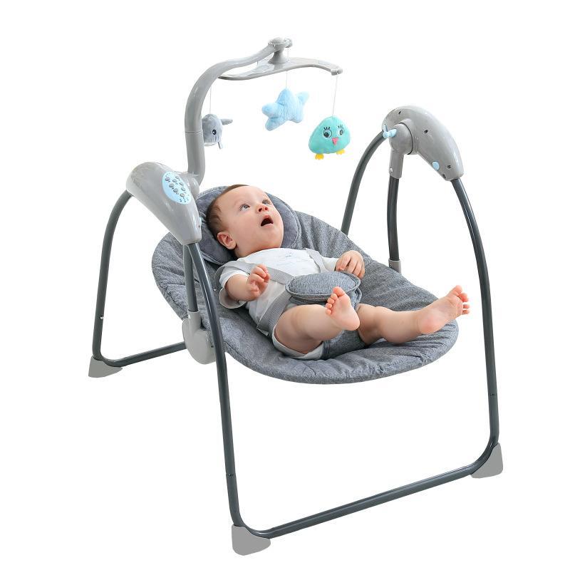 Baby Swing Electric Bouncer <font><b>Rocking</b></font> <font><b>Chair</b></font> Remote Control Jumper