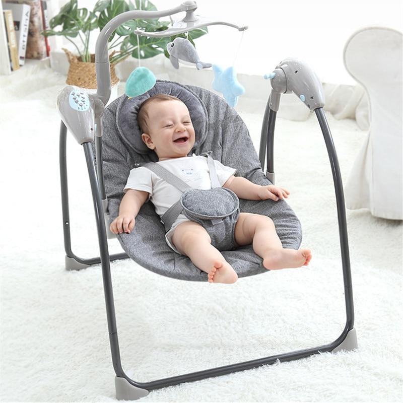 Baby Swing Newborns Electric Baby <font><b>Rocking</b></font> Cradle Remote Baby Jumper