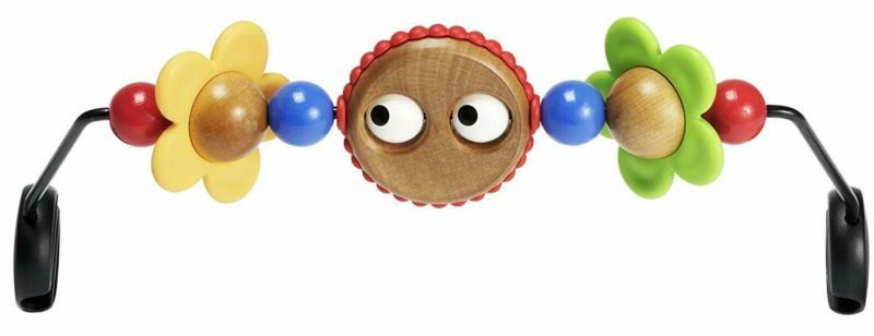 babybjorn wooden toy for bouncer googly eyes