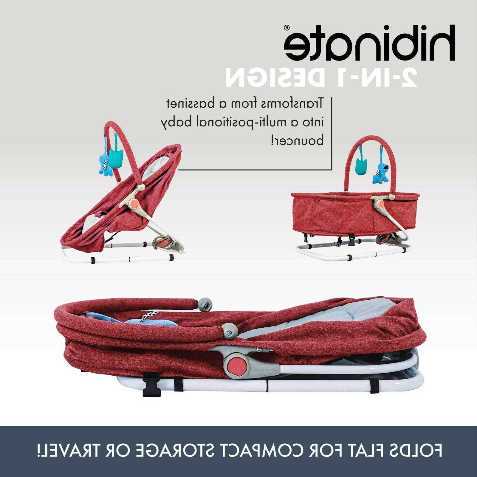 Bouncer Cradle Bassinet Red