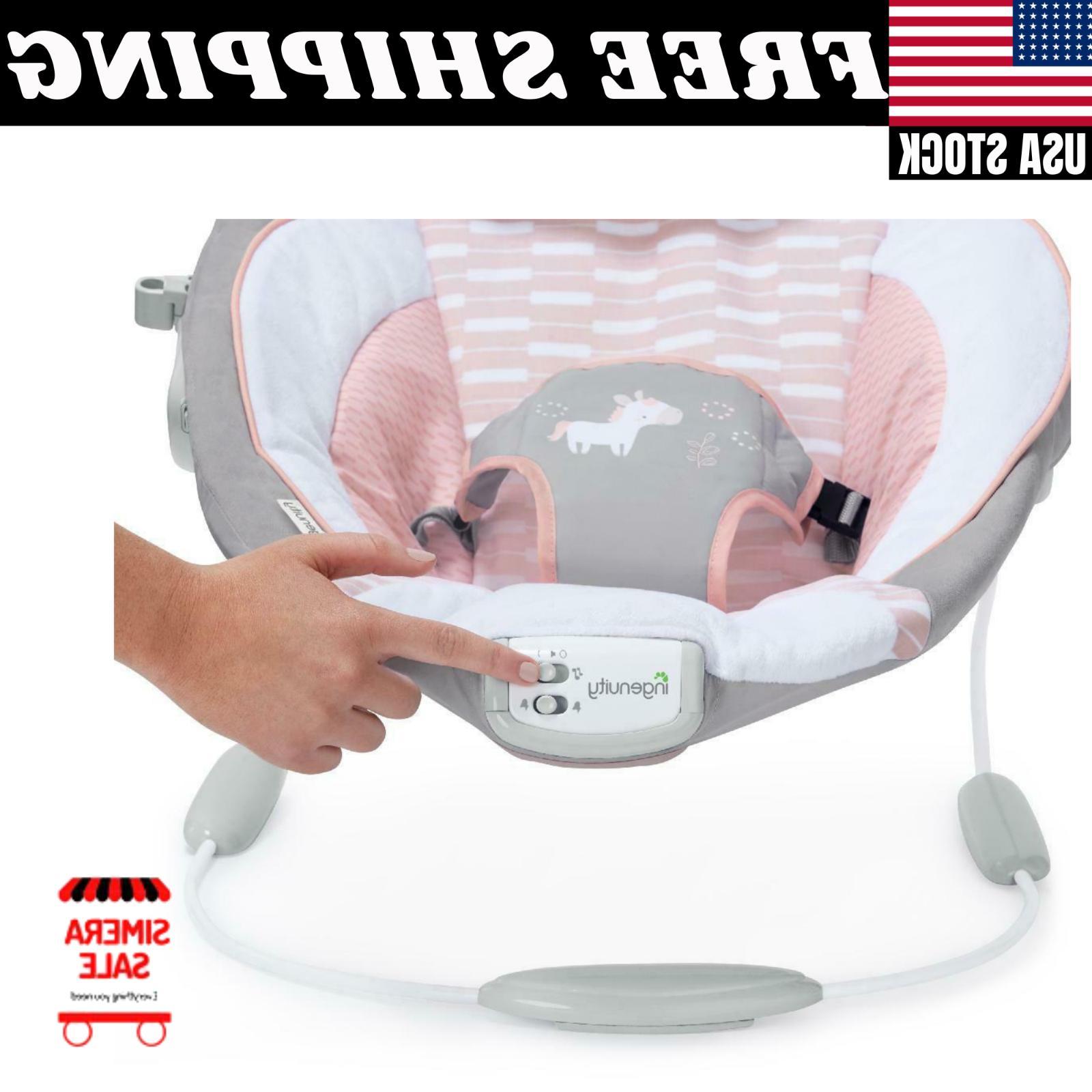 Cradling Bouncer - Flora - Ultra-Plush Infant Vibration New