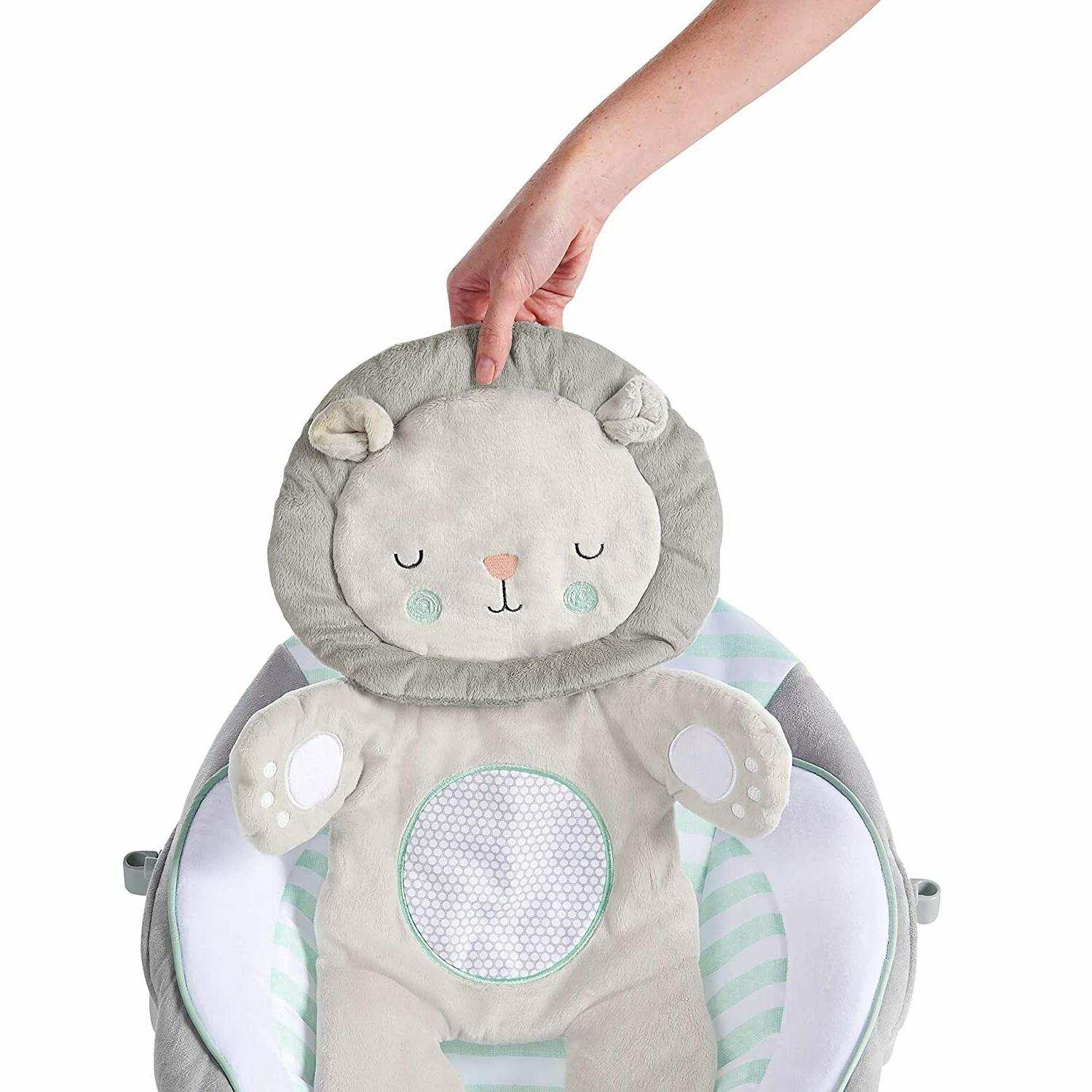 Ingenuity Cradling Bouncer with Vibration Melodies- Landry The Lion