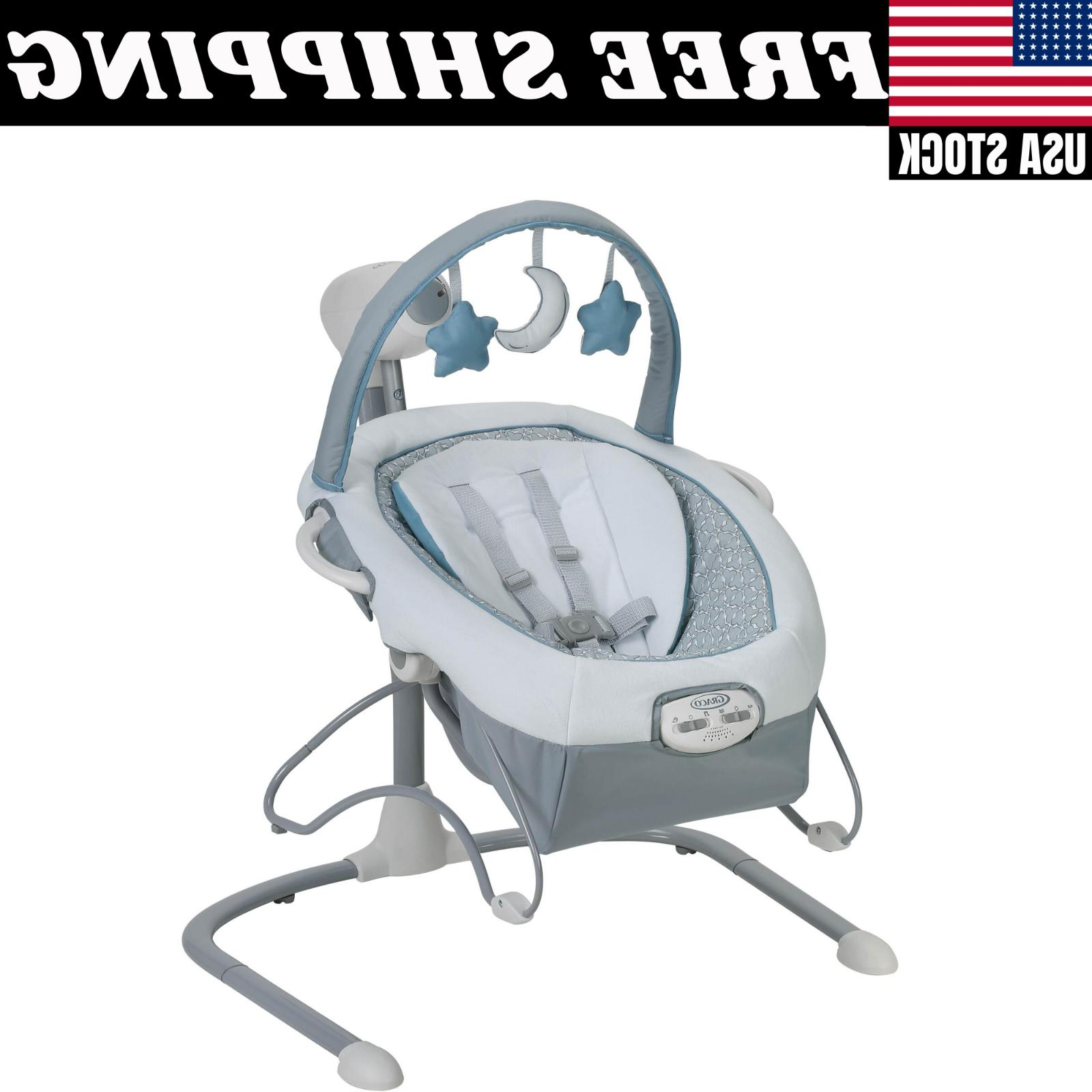 Graco Sway LX Baby Swing Portable Adjustable Toybar
