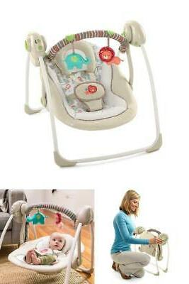 Electric Rocker Baby Swing Infant Portable Bouncer Seat Chair