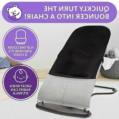 Comfy Bumpy Ergonomic Baby Bouncer Seat - Travel Carry Case