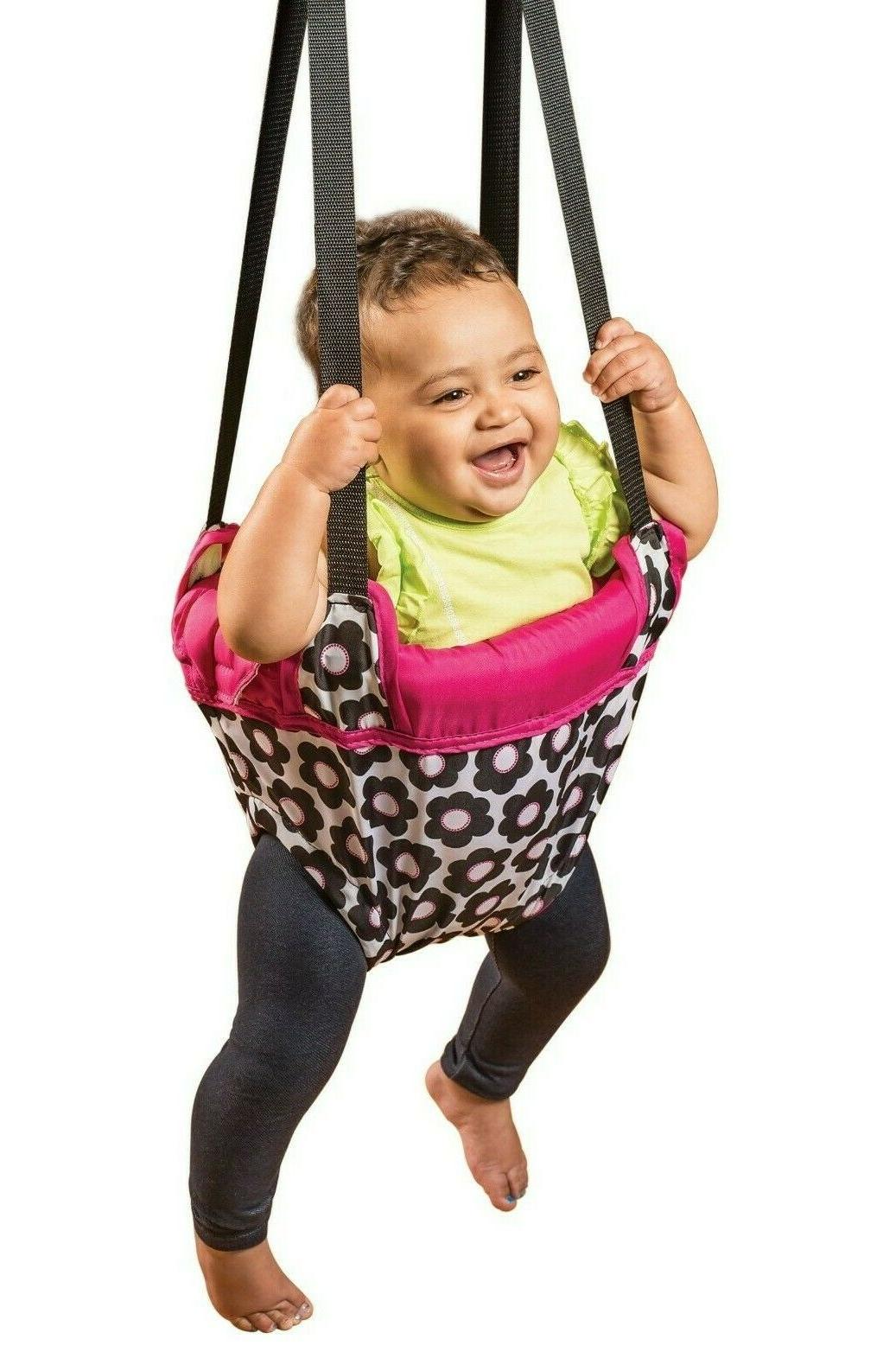 Evenflo Jumper Bouncer Swing Girls Pink with Flowers 4 Mths+