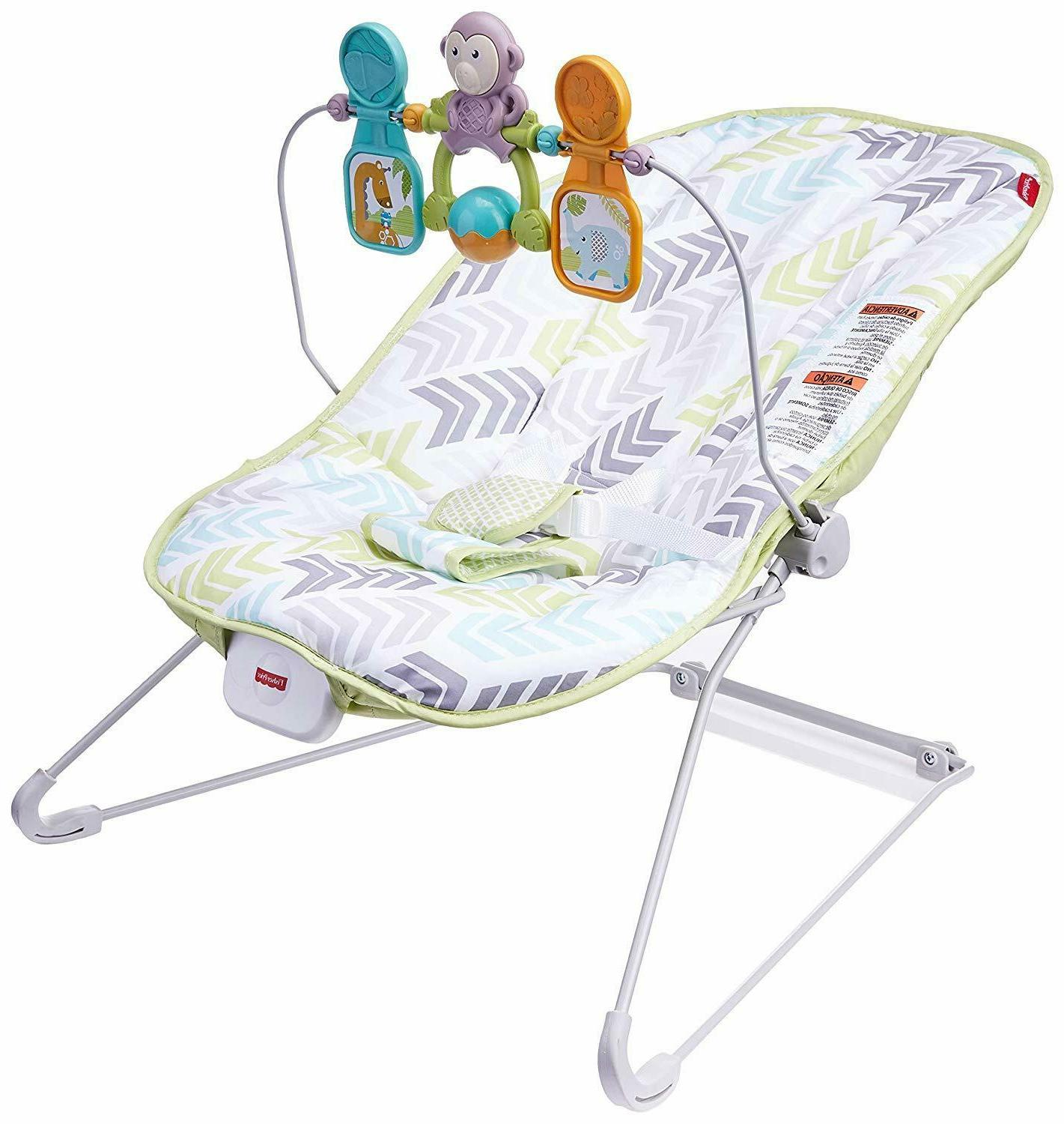 fisher price baby s bouncer green blue