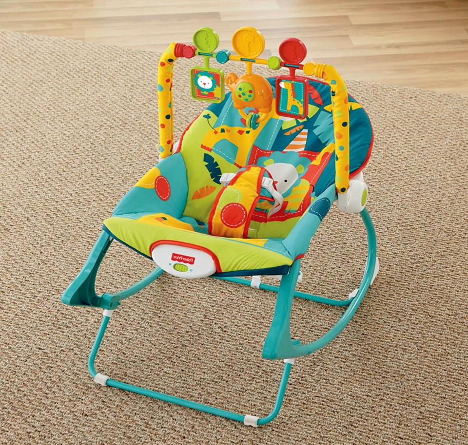 fisher price infant to toddler rocker safari