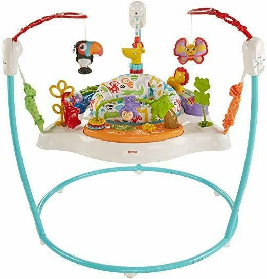 fisher price jumperoo animal activity blue