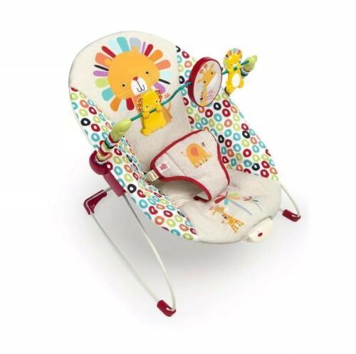 Bright Starts Home Pinwheels Baby Bouncer, Vibrating