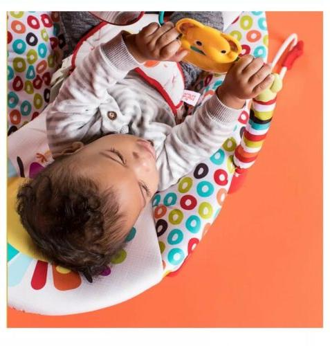 Bright Playful Pinwheels Baby Toddler Vibrating Seat