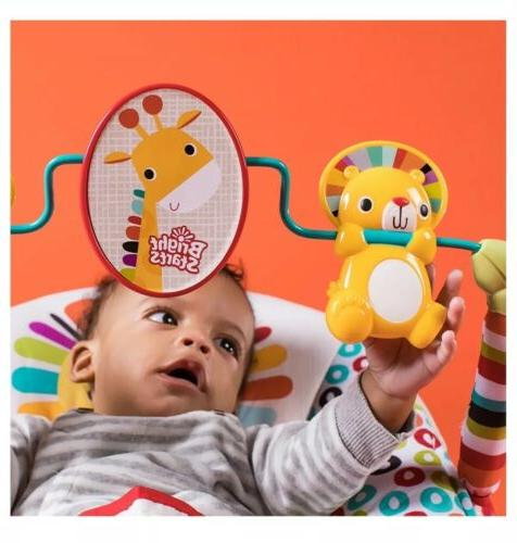 Bright Home Playful Pinwheels Baby Bouncer, Toddler Vibrating Rocker
