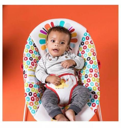 Bright Pinwheels Baby Vibrating Rocker Seat