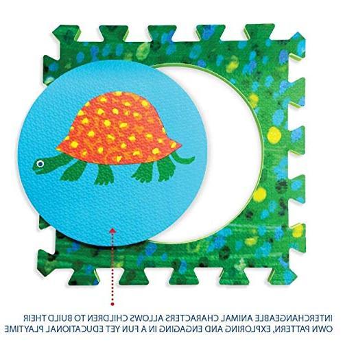 Hungry Puzzle Mat, Baby Play Mat, Foam 20 Foam Tiles, Puzzle Mat, Non-Toxic, Foam Boy, Play Baby Playmat 65'' 52''