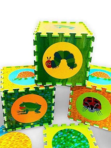 Hungry Puzzle Mat, Mat, Foam Mat, Foam Tiles, Puzzle Mat, Non-Toxic, EVA Foam Mat, & Boy, Infant Baby Playmat 65'' 52''
