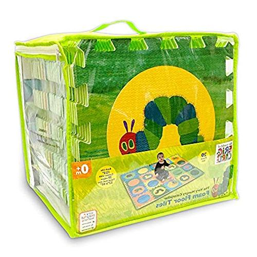 Hungry Caterpillar Puzzle Play Mat, Foam Tiles, Foam Puzzle Non-Toxic, Boy, Infant Baby 52''