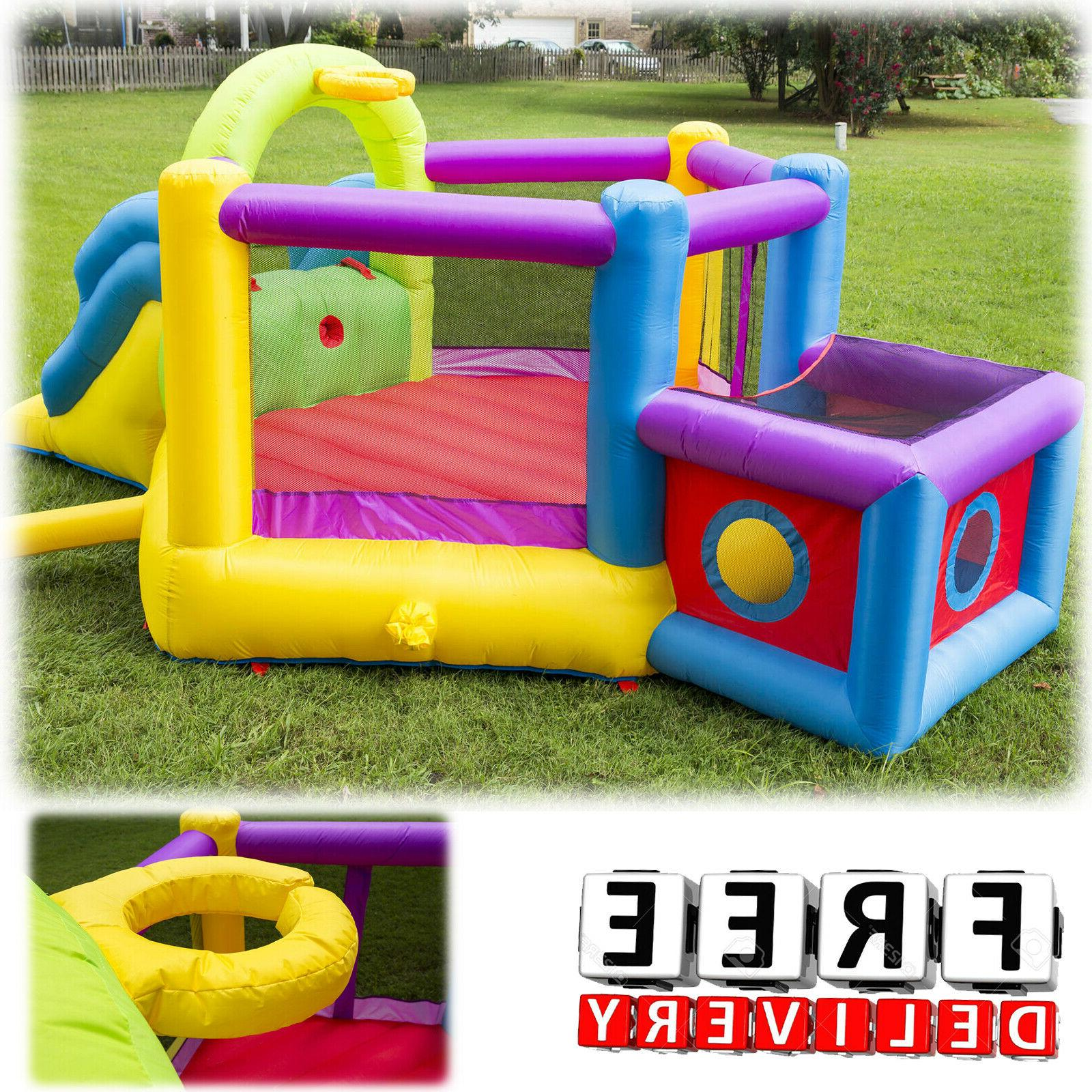 Inflatable Bounce House Slide Bouncer Blower Yard Outdoor Ch