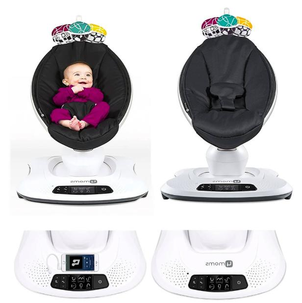 NEW Mamaroo 4 Infant Reclining Seat Bouncer Black