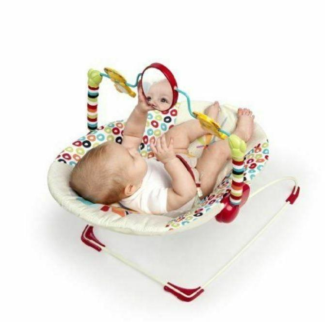 Bright Starts Playful Pinwheels Bouncer Seat toy