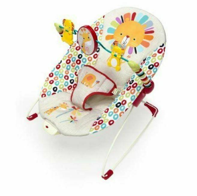 playful pinwheels bouncer baby multicolor vibrating seat