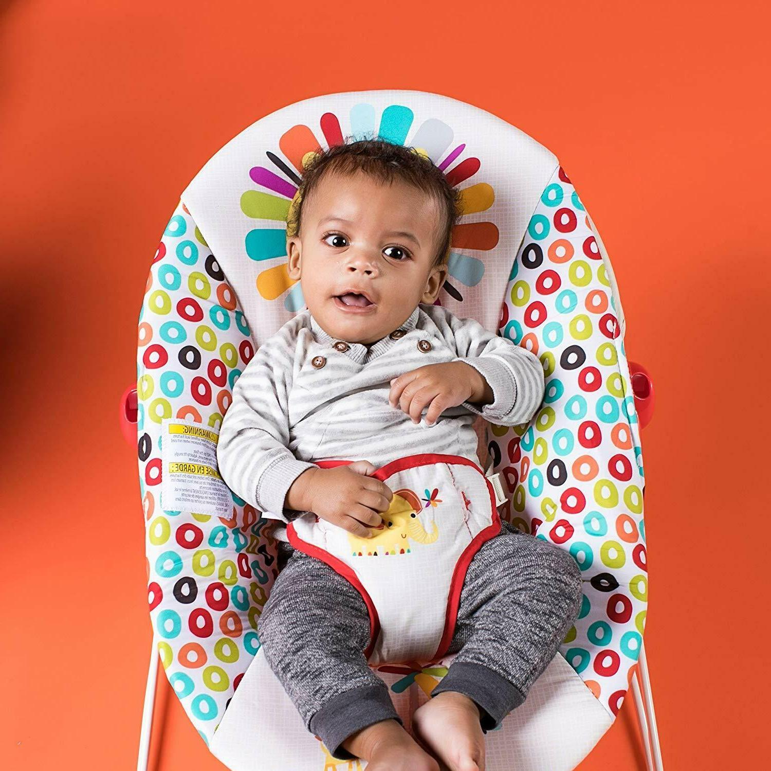 Bright Playful Pinwheels Bouncer,