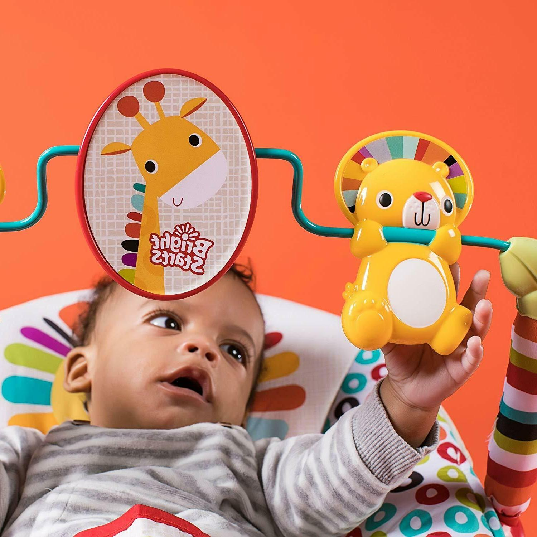 Bright Playful Pinwheels Bouncer free shipping