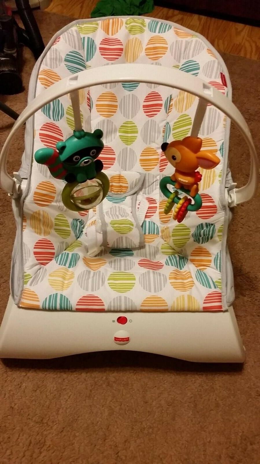 Baby Bouncer With Vibration Rocker Chair Seat Newborn Infant