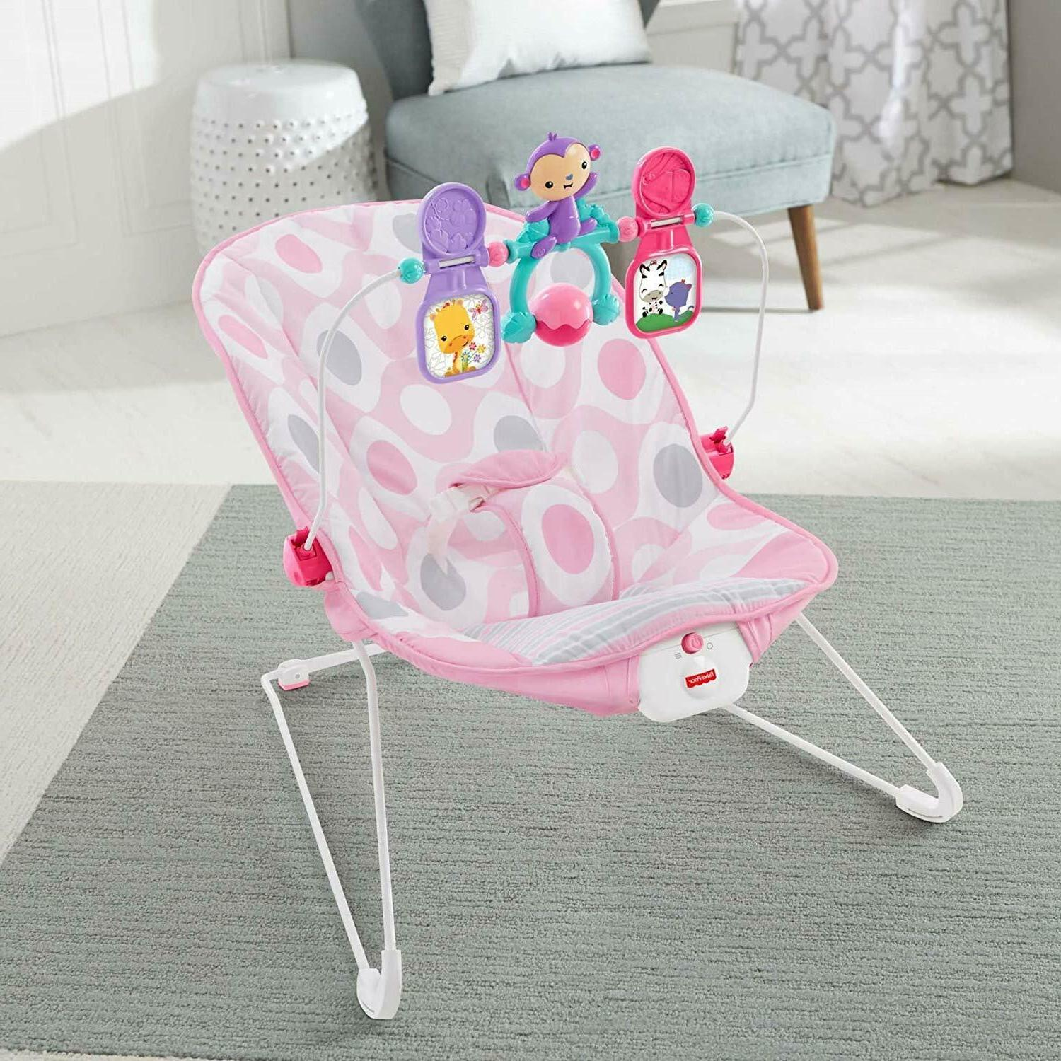 Baby Chair Pink Infant Toddler Kids Vibration