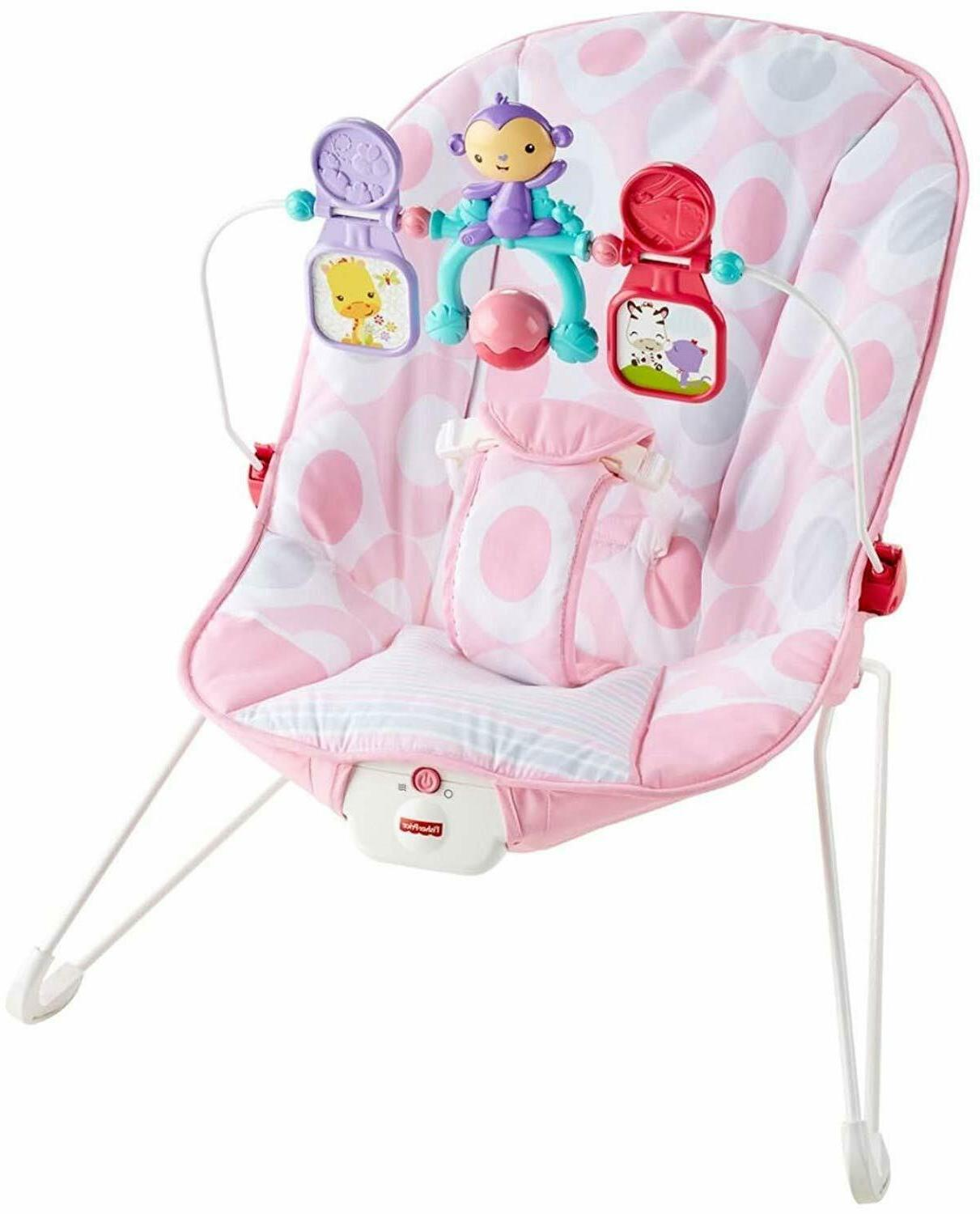 Baby Rocker Chair Pink Seat Infant Kids