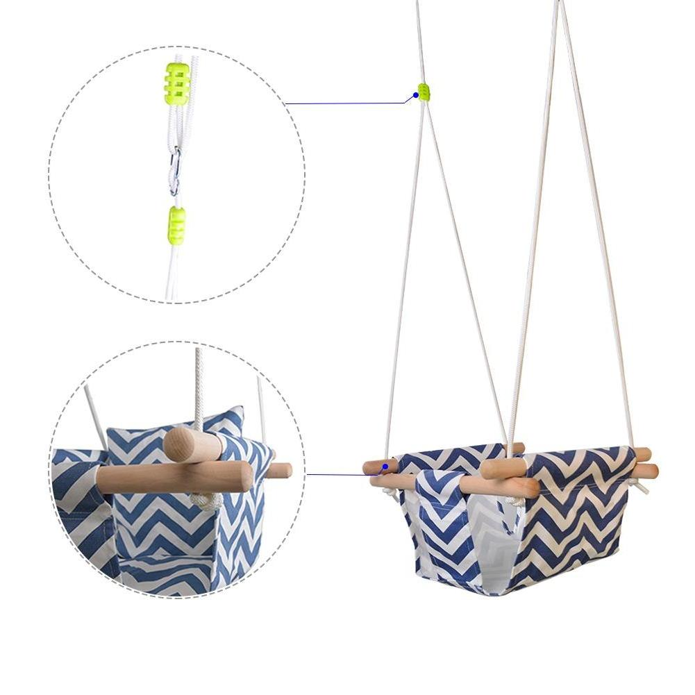Safety Kindergarten <font><b>Baby</b></font> Canvas Swing Hanging Indoor Small Rocking With Cushion