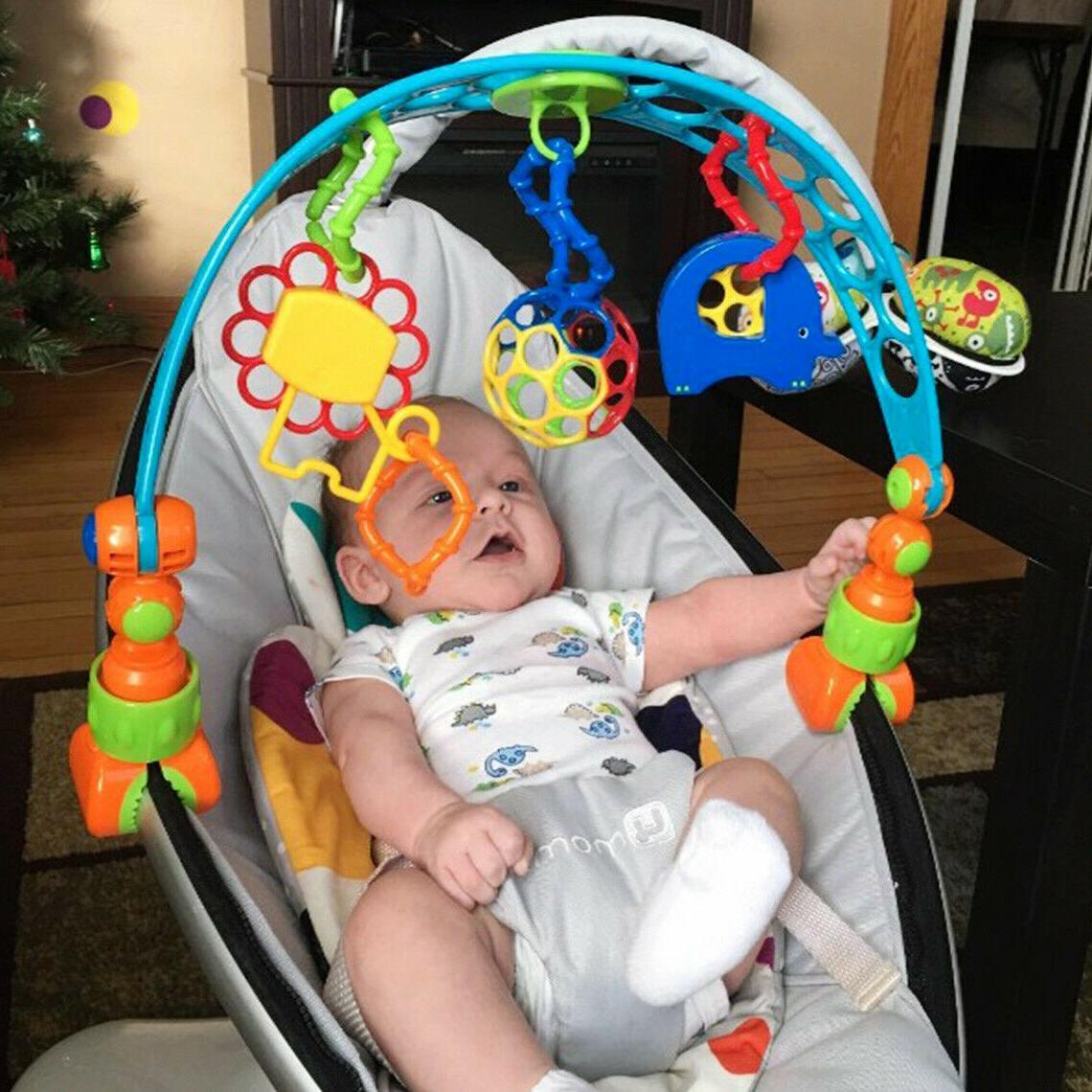 toy arch baby stroller crib activity seat