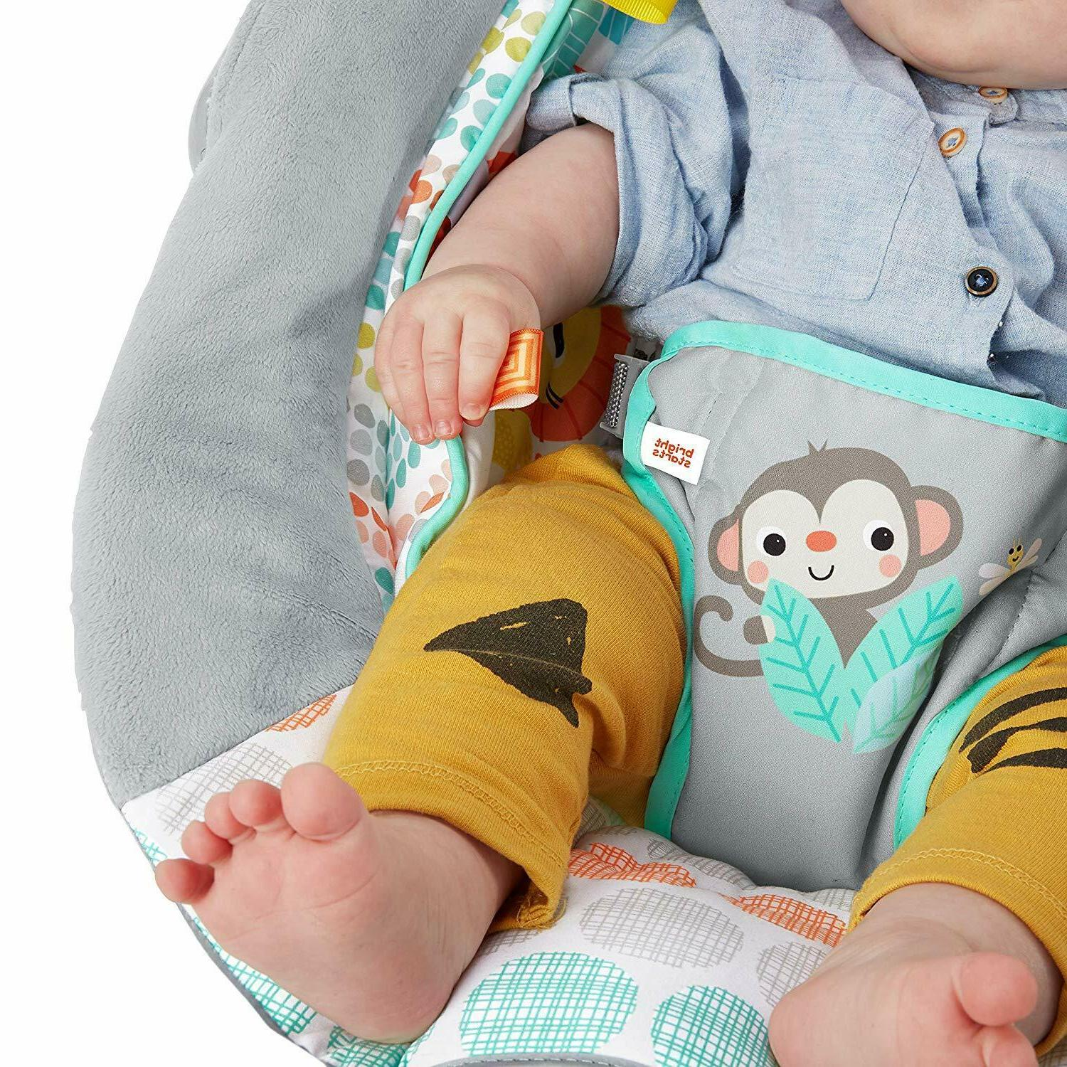 Bright Cradling Bouncer Seat with Soothing &