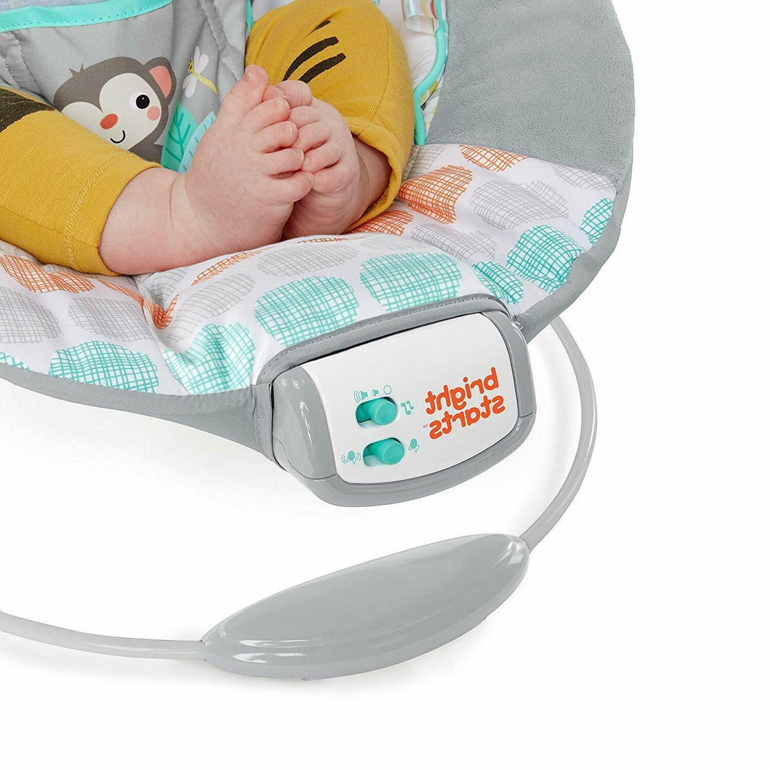 Bright Whimsical Wild Cradling Bouncer with Soothing &