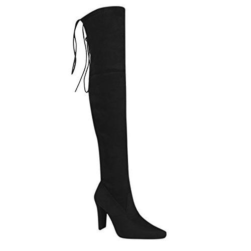 women boots stretch faux slim