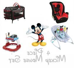 NEW 4 PC Mickey Mouse Set Convertible Car Seat Play Yard Wal