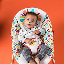 New Bright Starts Playful Pinwheels Bouncer with Vibrating S