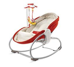 Red, Beautifully Designed, Innovative 3-In-1 Rocker Napper