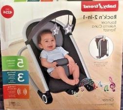 Baby Trend Rock'n 2- In -1 Bouncer, Cinder ~ New In Box