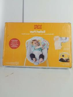 Bright Starts Safari Fun Vibrating Bouncer Seat for Babies,