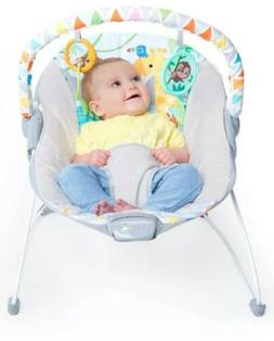 soothing vibrating bouncer seat with toy bar