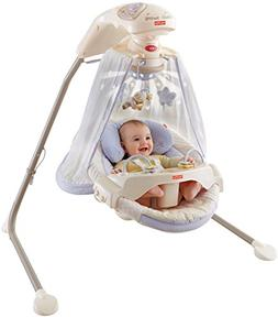Fisher-Price Starlight Papasan Cradle Swing - 25 lb Weight C