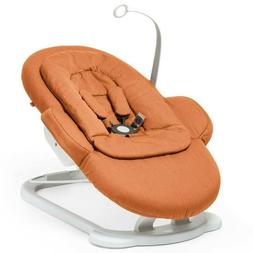 Stokke Steps Bouncer, With Infant Insert, Orange, NWT