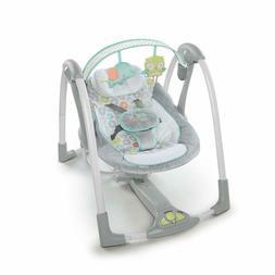 Ingenuity Swing 'N Go Portable Swing Hugs Hoots Baby Sleeper