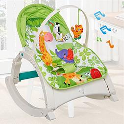 COLORTREE Infant to Toddler Rocker Activity Play Centers for