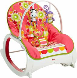Toddler Rocker Baby Seat Bouncer Swing - Floral Confetti