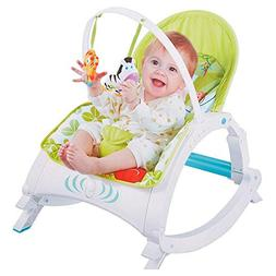 COLORTREE Newborn toToddler Portable Rocker with Dinner Tabl