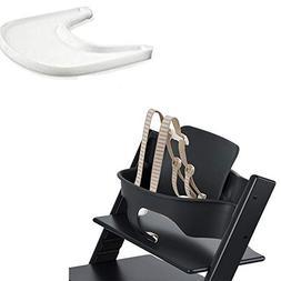 Stokke Tripp Trapp Baby Set - Black & Tray - White
